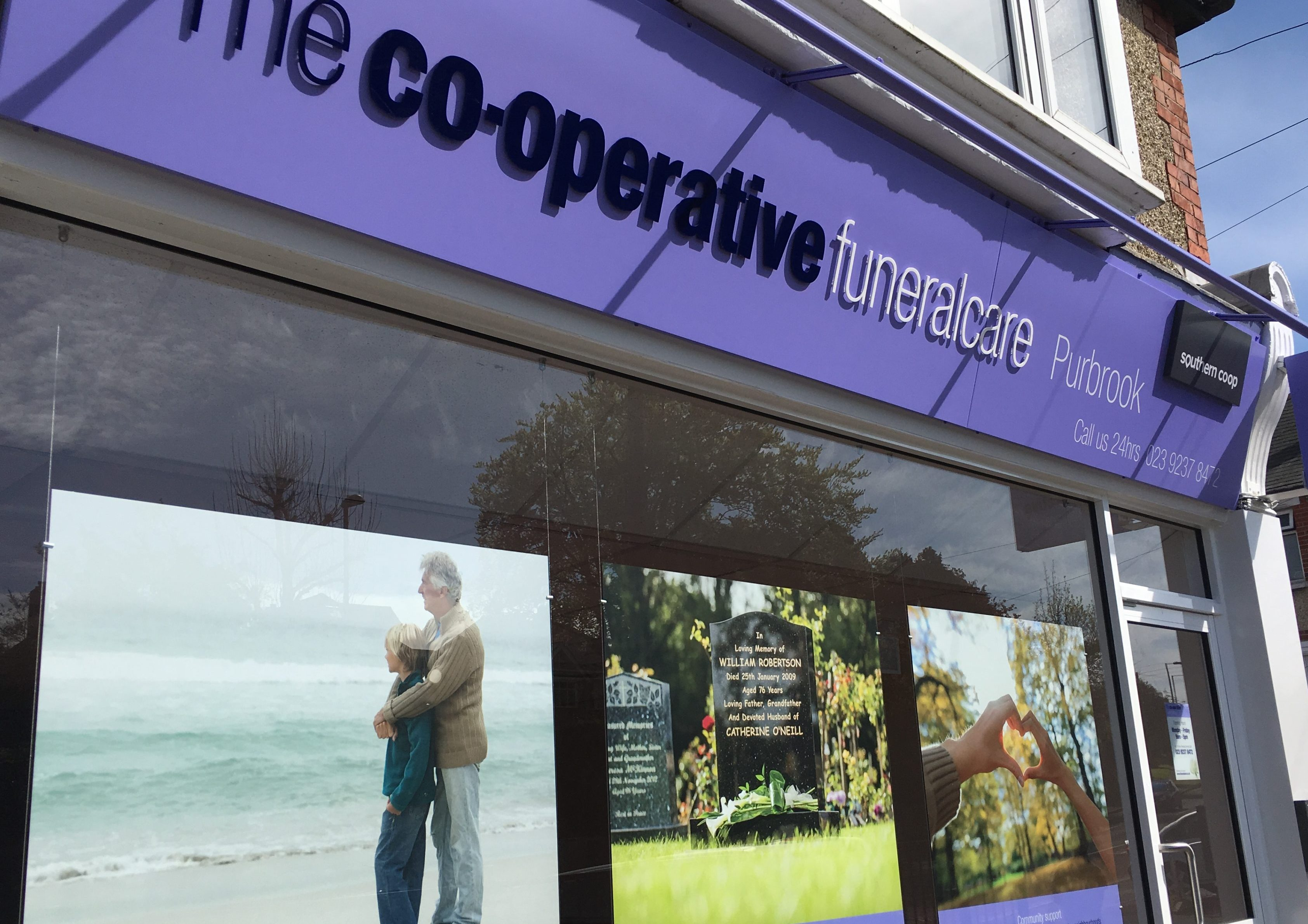 The co-operative funeralcare exterior signage