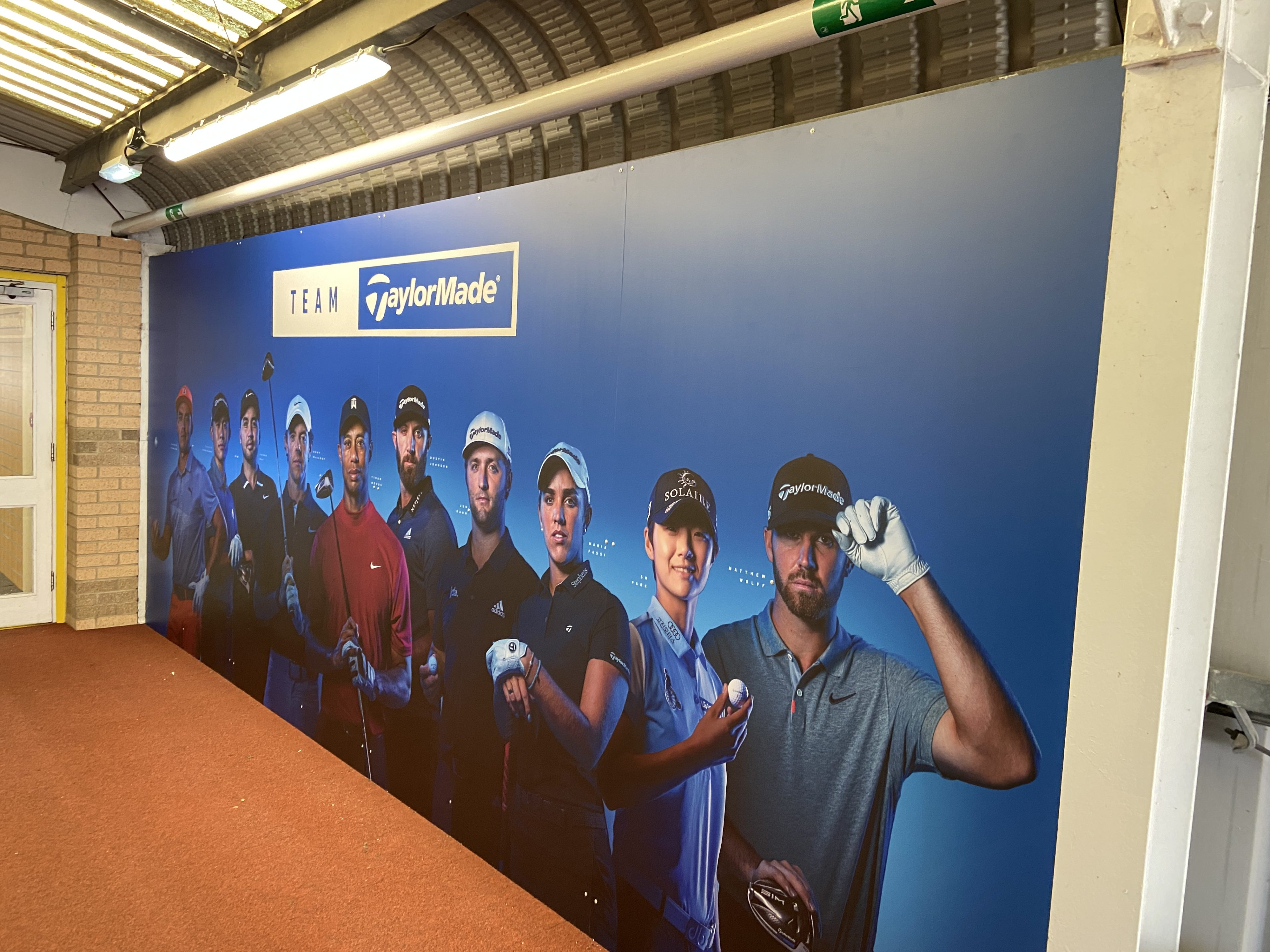 Taylormade team golf wall banner