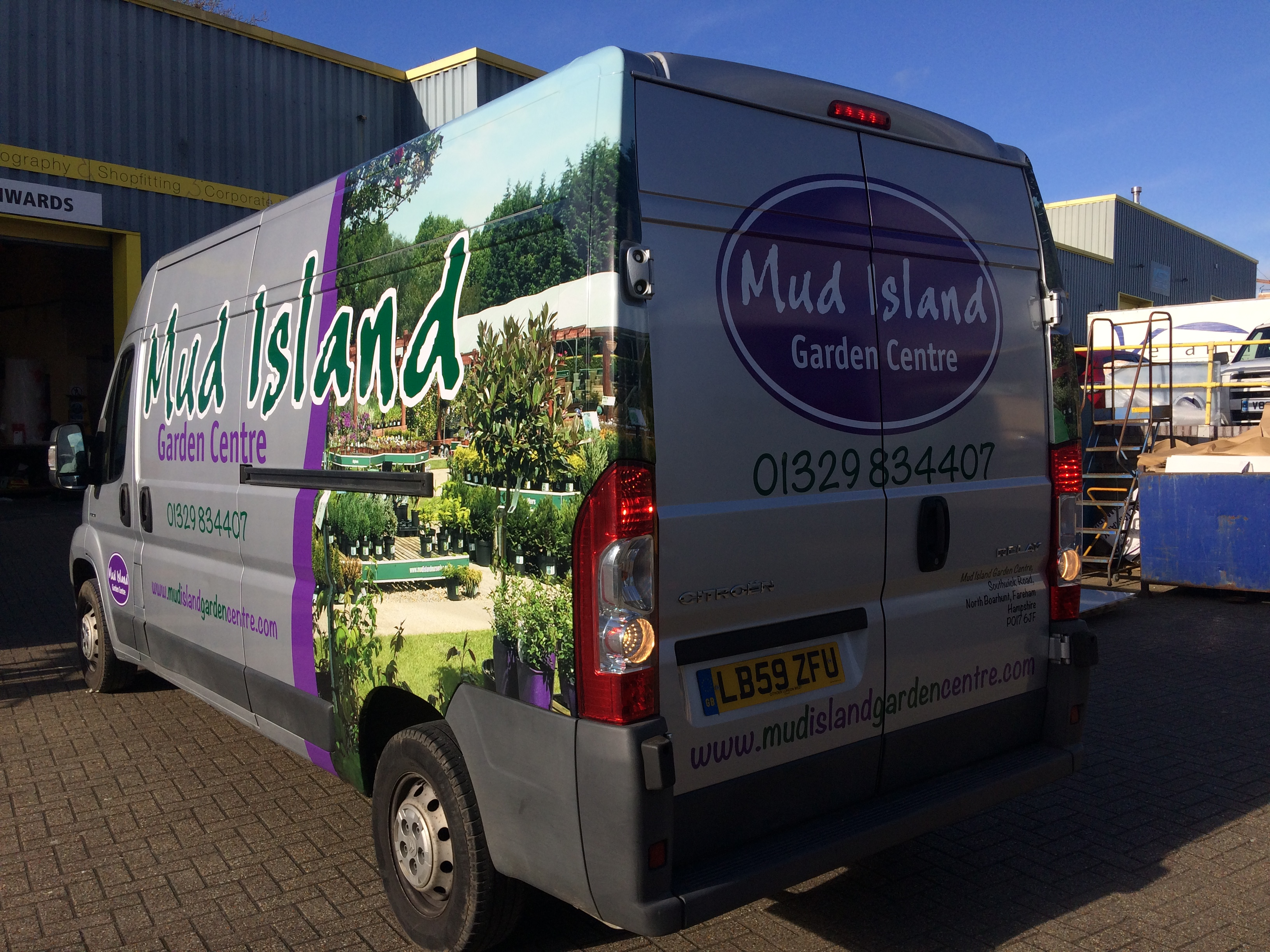Mud Island van wrap
