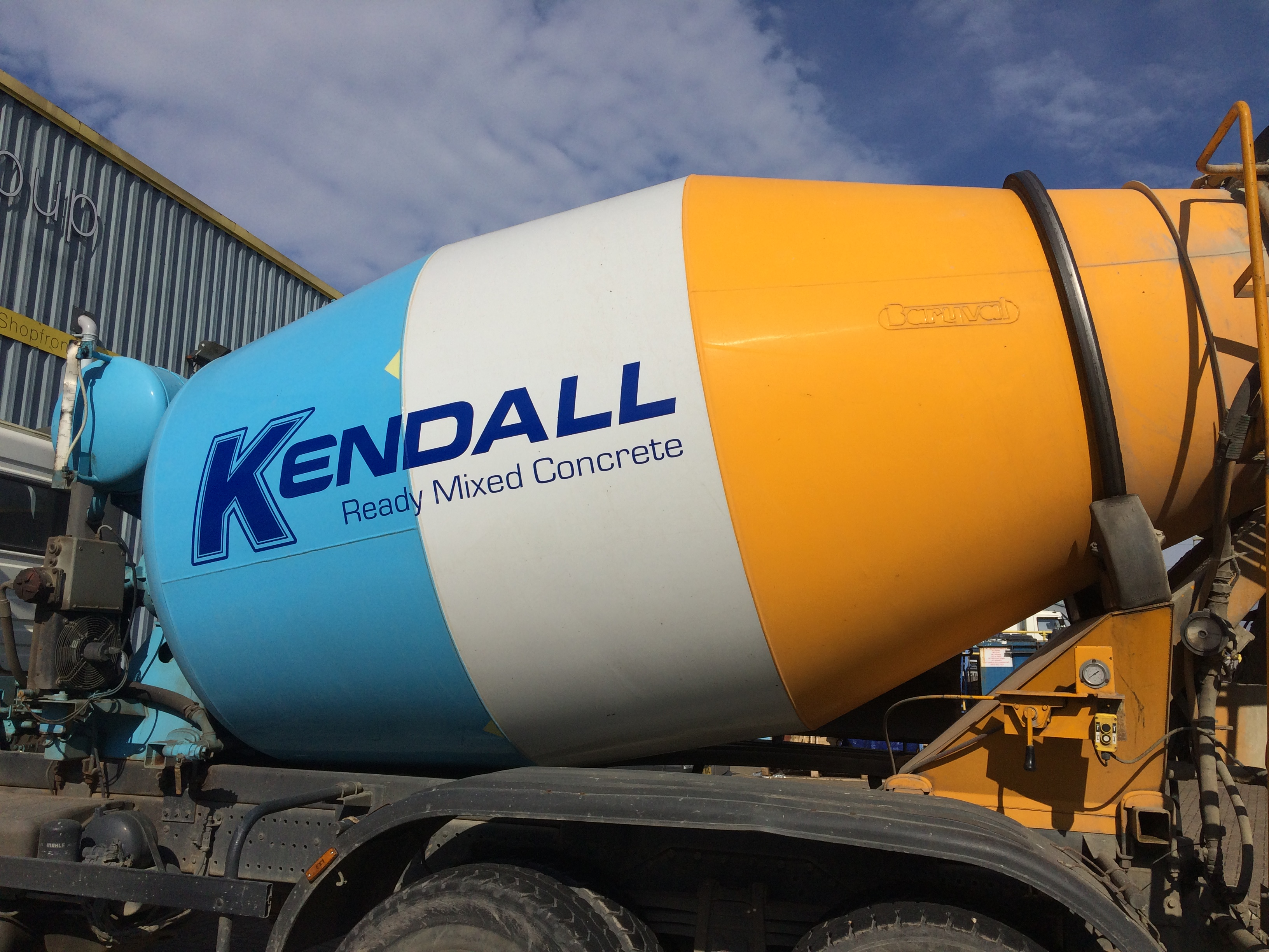 Kendall concrete transports sticker