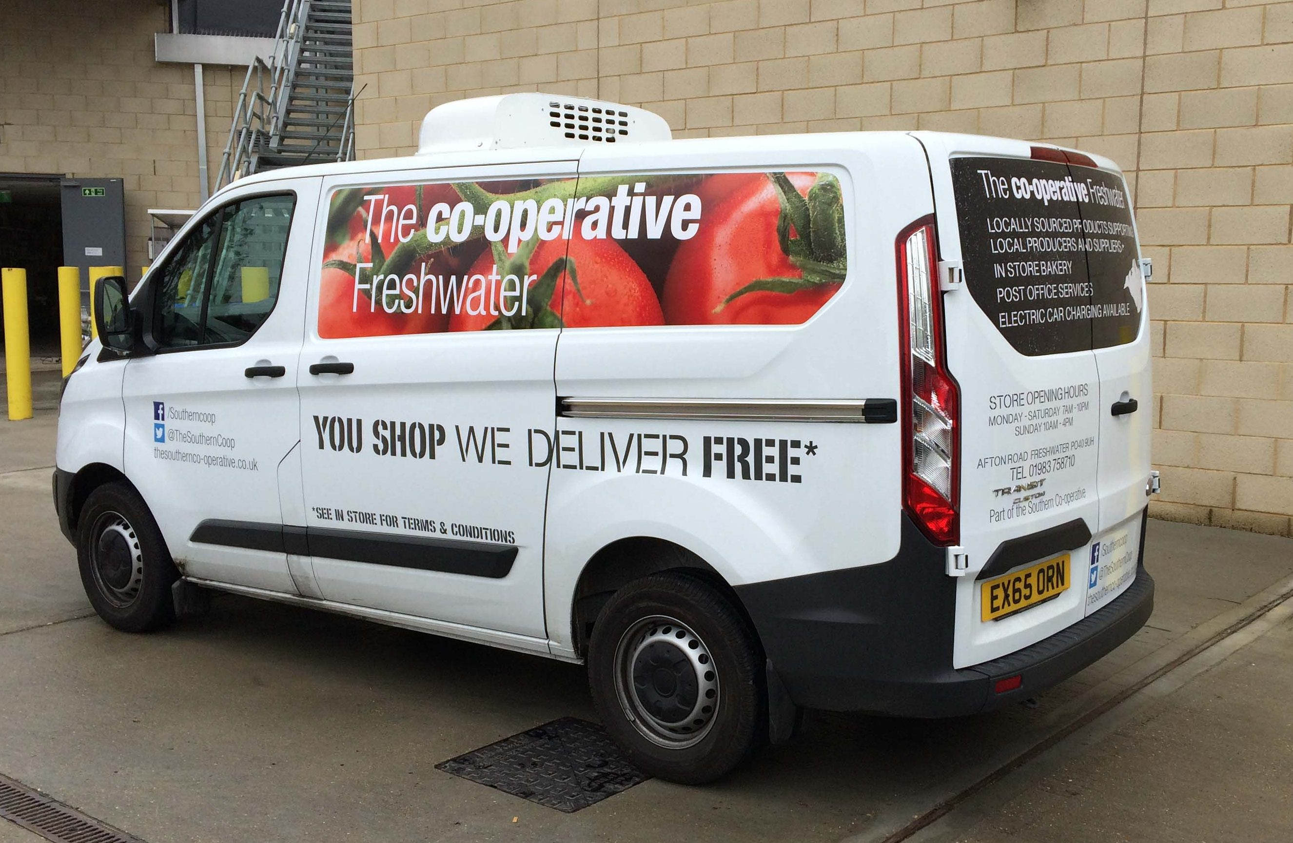 Co-operative van decal stickers