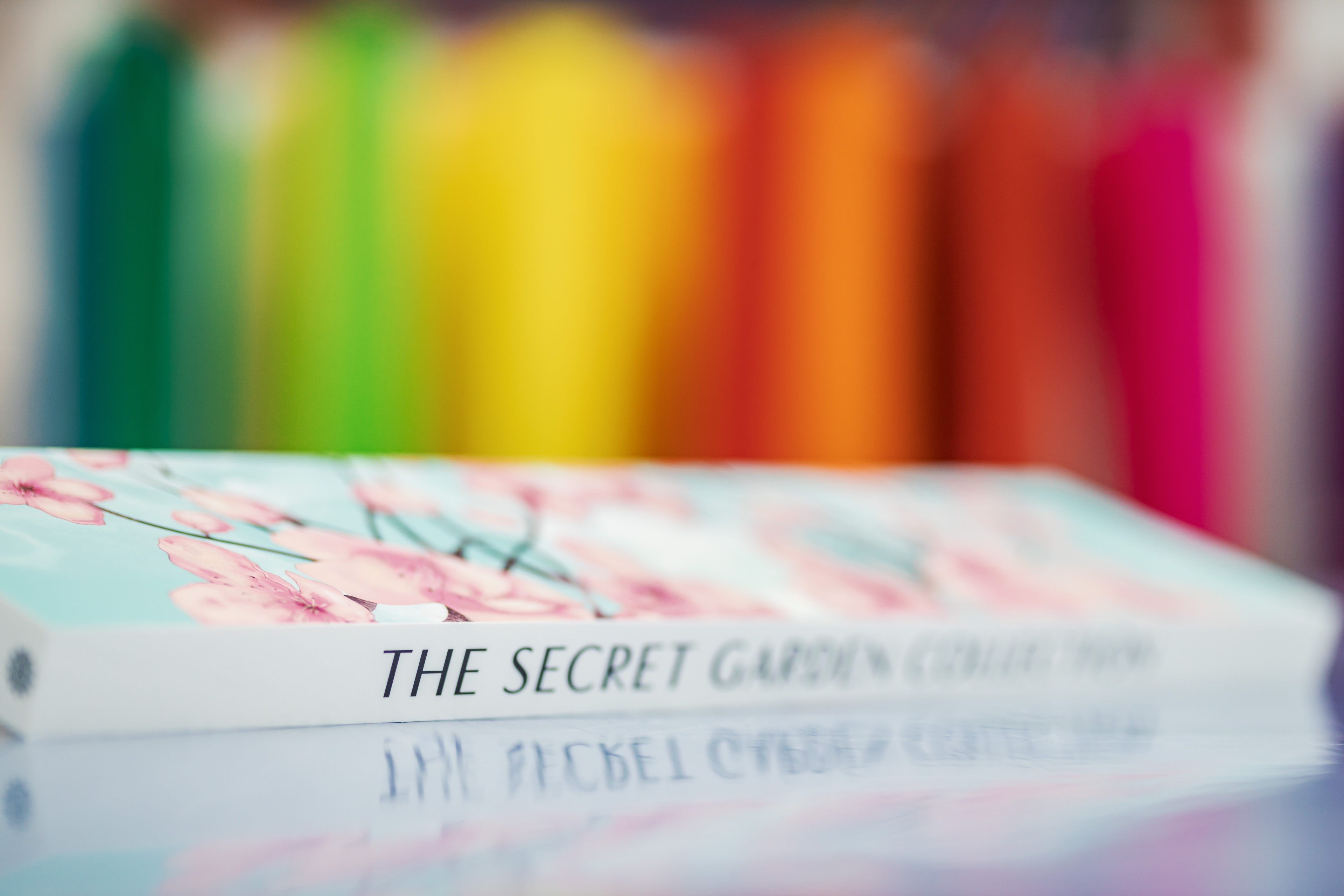 The secret garden book and colours in background