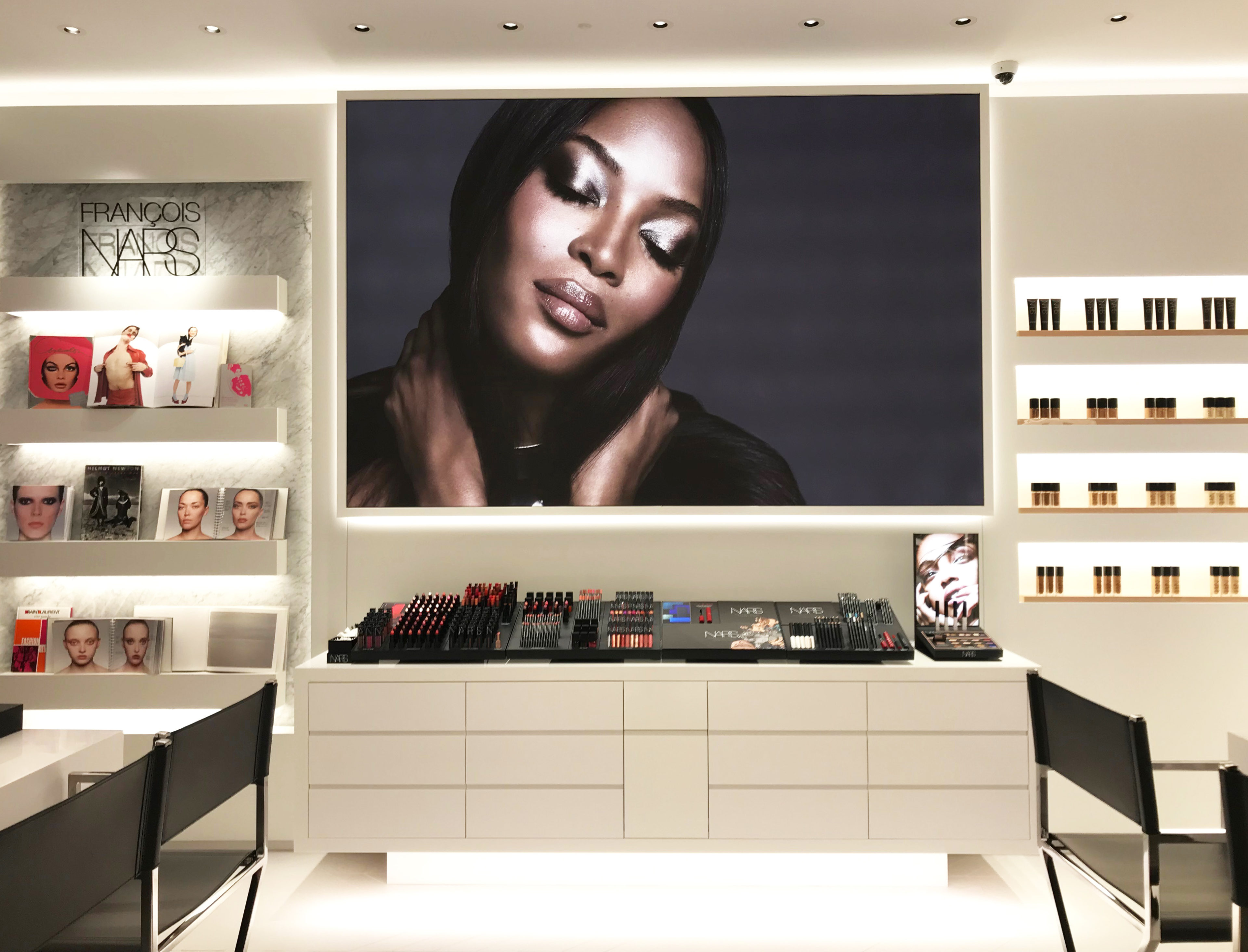NARS large photography on wall