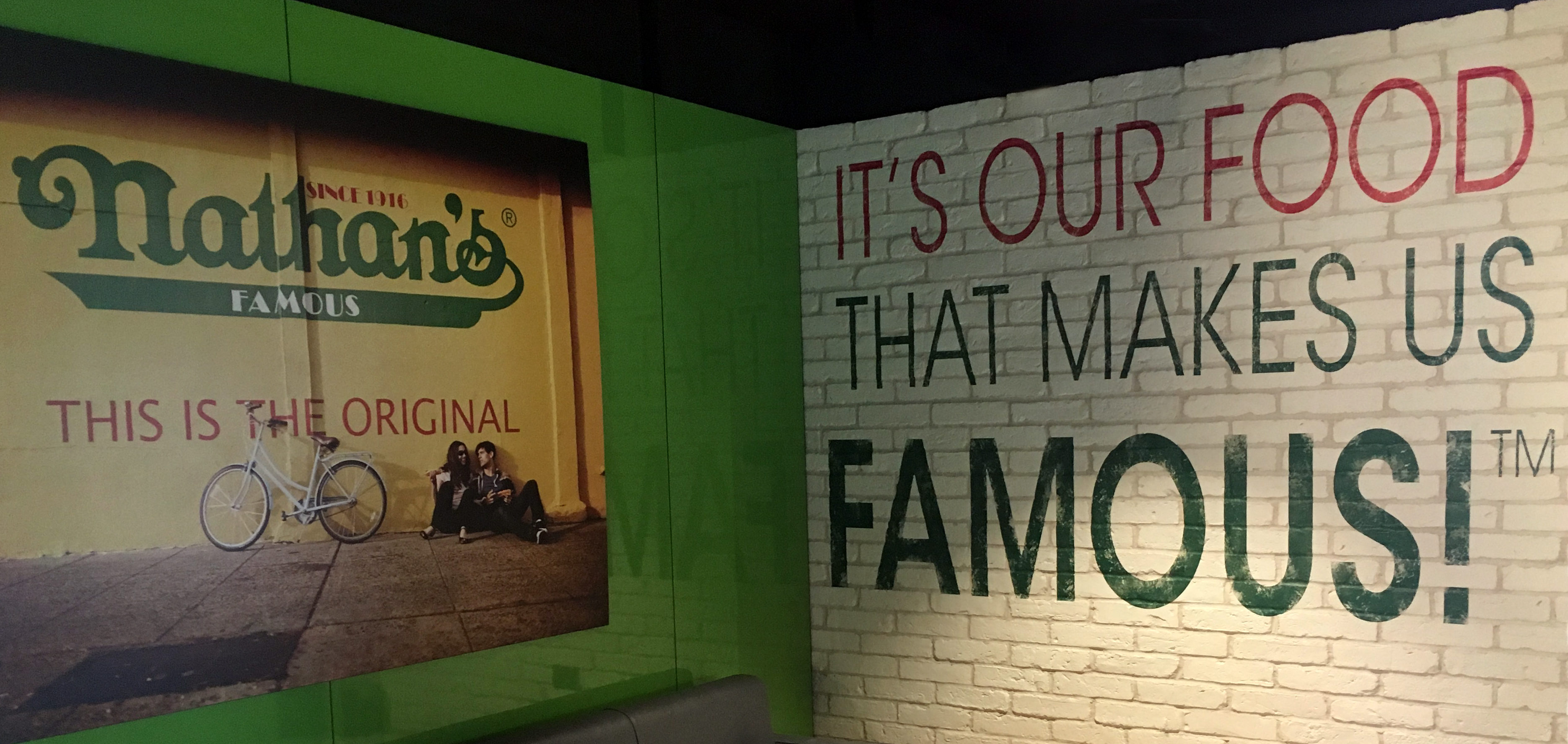 Nathan's Famous interior signage