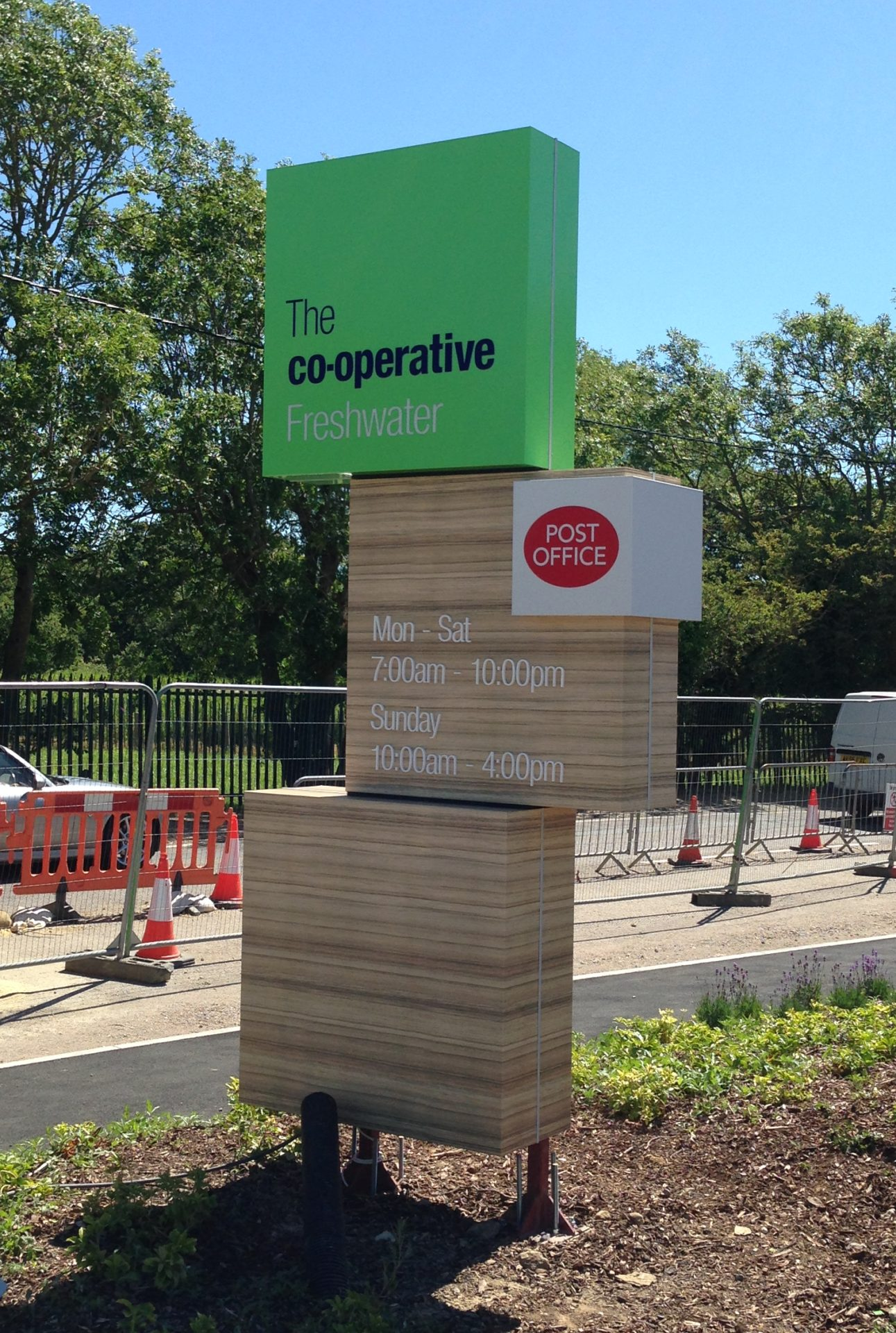 The Co-operative Freshwater standalone signage