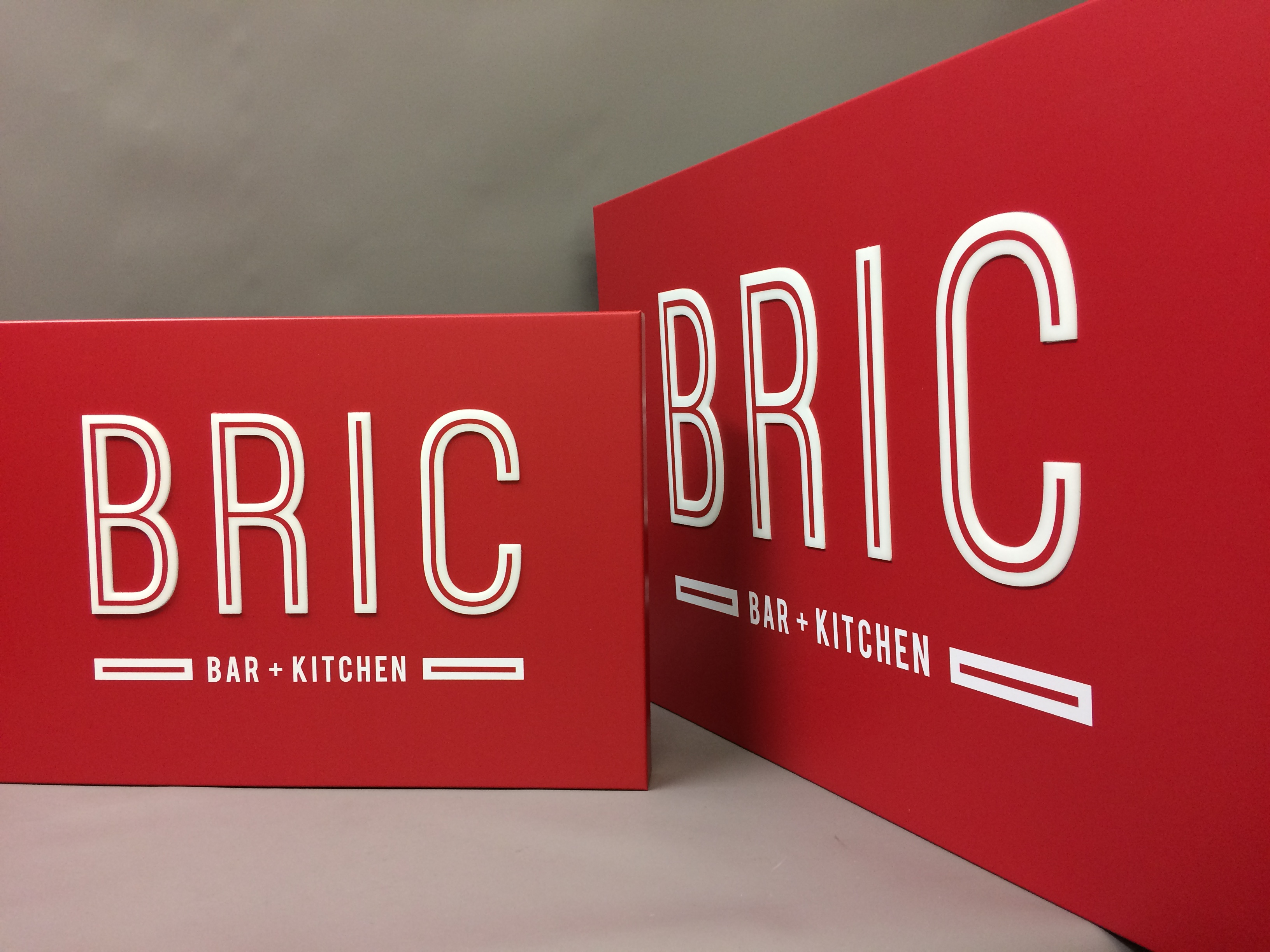 Bric bar and kitchen signage
