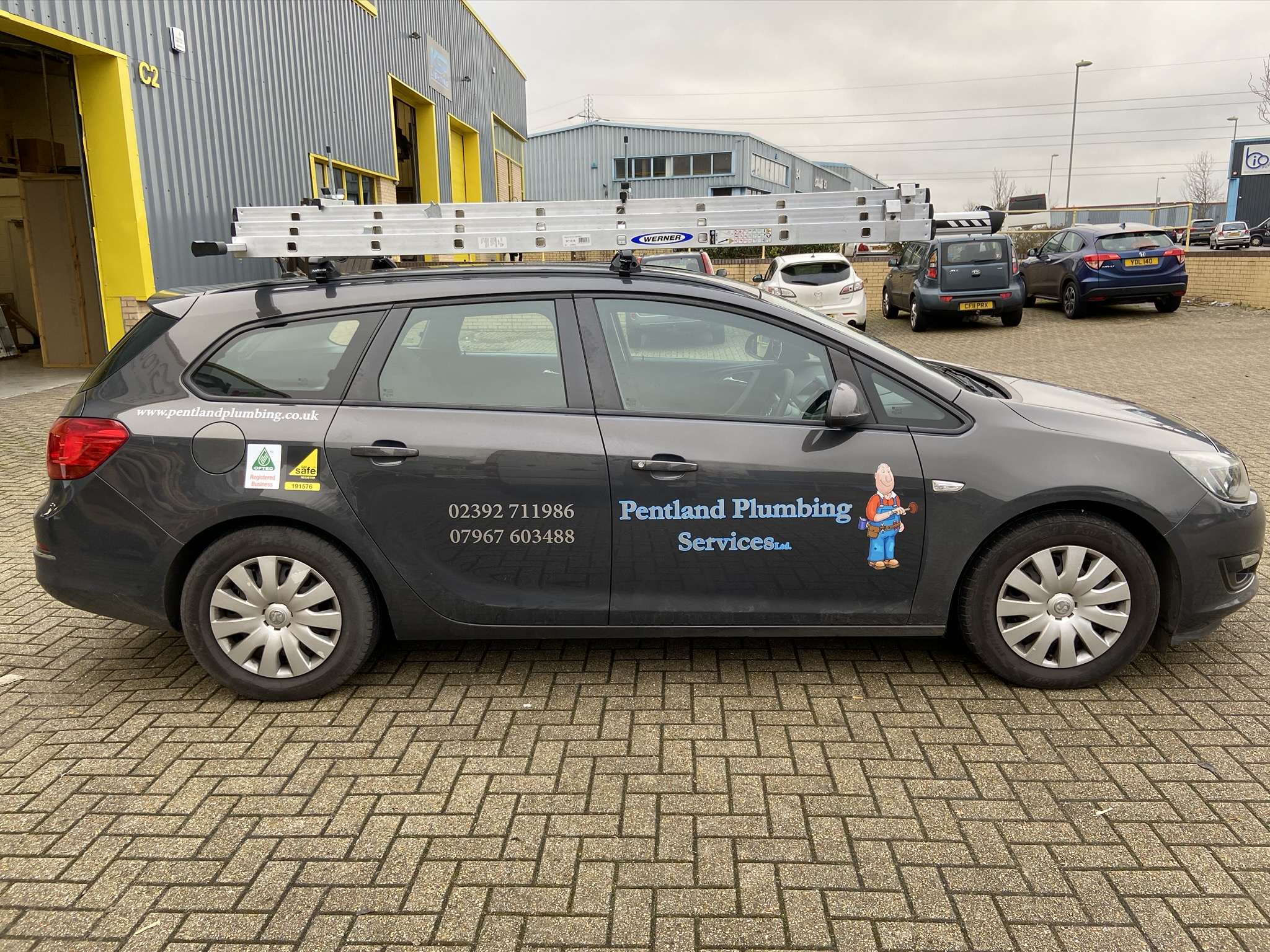 Pentland Plumbing Services car sticker