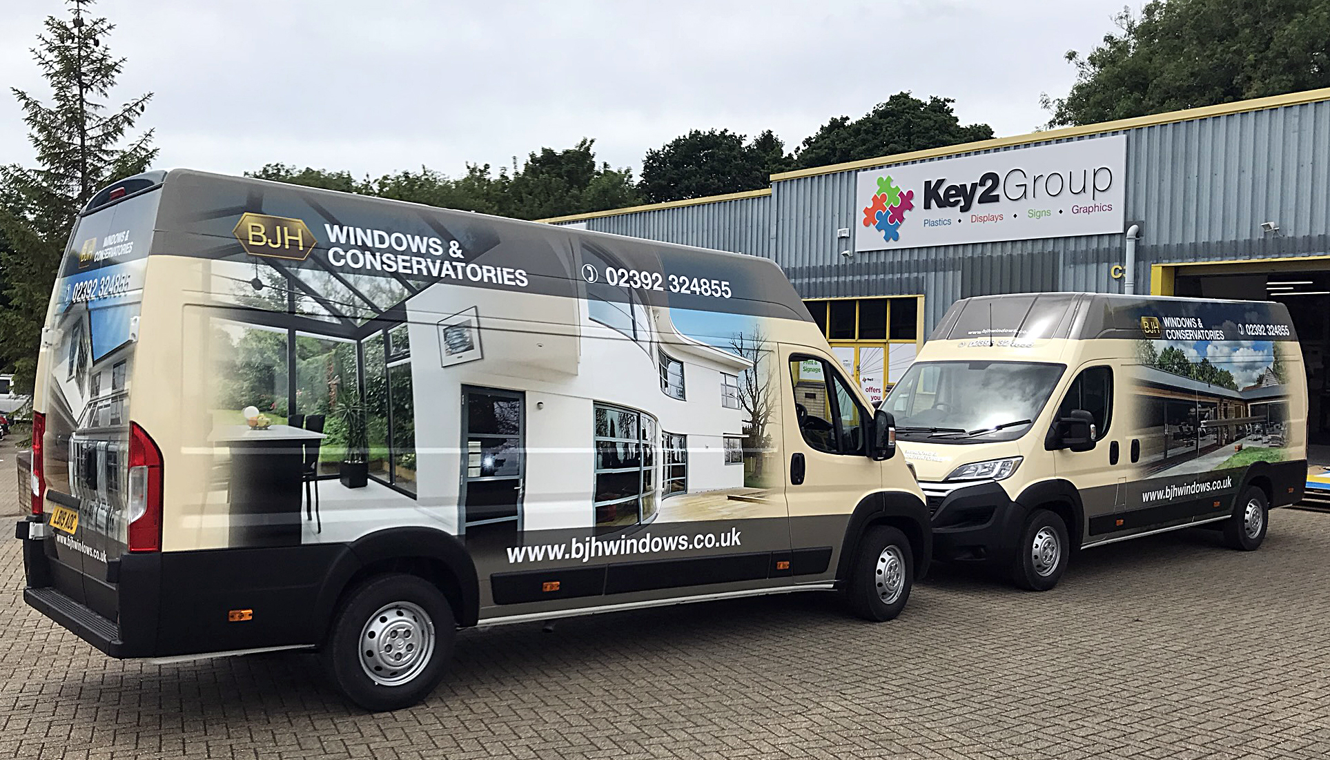 BJH Windows and Conservatories van wraps