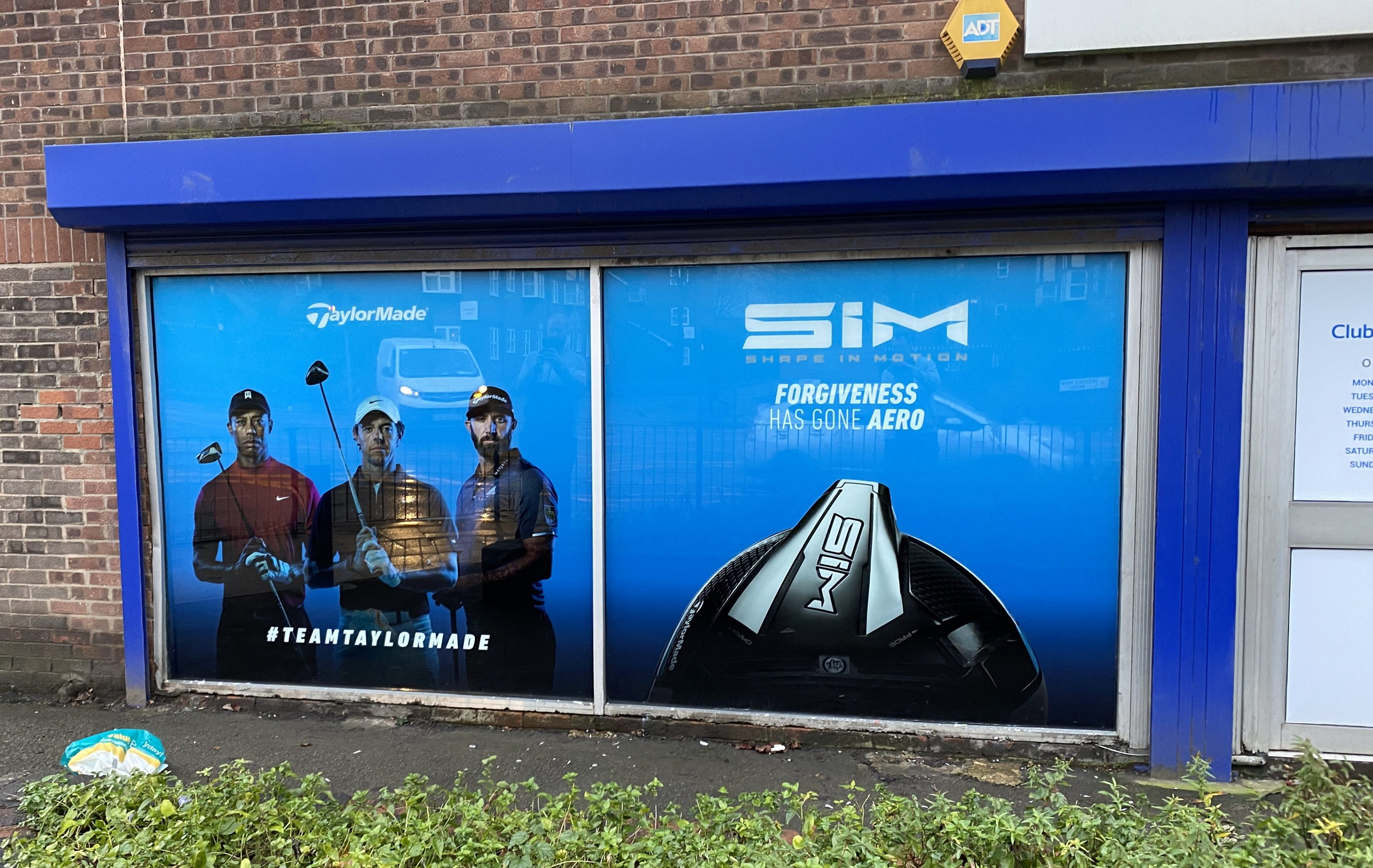 TaylorMade window signs